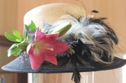 Hat corsage for Mother of the Bride